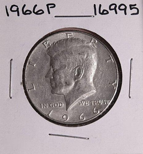 1966 P KENNEDY 40% SILVER HALF DOLLAR  #16995