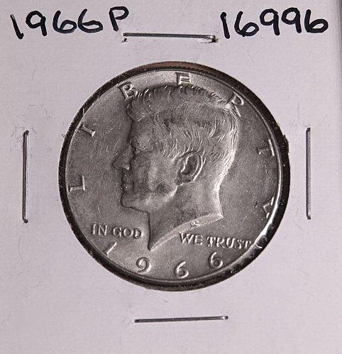 1966 P KENNEDY 40% SILVER HALF DOLLAR  #16996