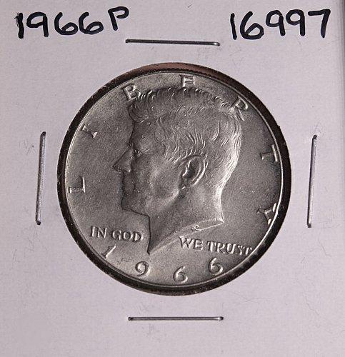 1966 P KENNEDY 40% SILVER HALF DOLLAR  #16997