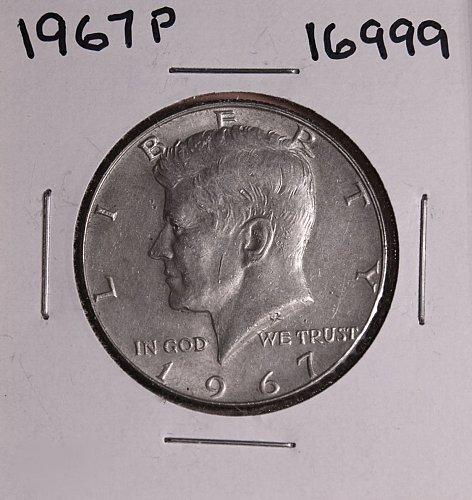 1967 P KENNEDY 40% SILVER HALF DOLLAR  #16999