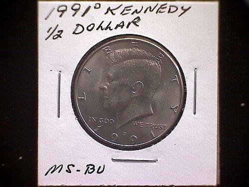 1991-D KENNEDY HALF DOLLAR