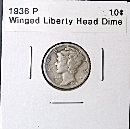 1936 P Winged Liberty Head Dime