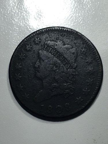 1808 Classic Head Large Cent Fine 15