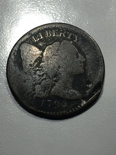 Rare! 1796 P Liberty Cap Large Cent - Good