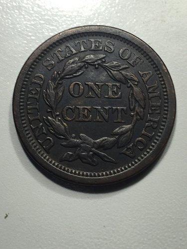 1856 P Braided Hair Liberty Head Large Cent