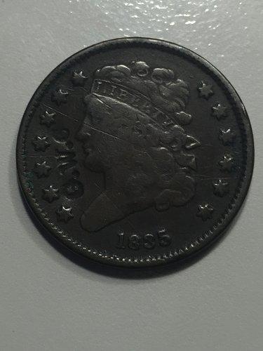 1835 P Classic Head Half Cent