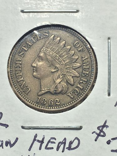 1862 P Indian Head Cent