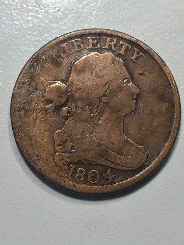 1804 P Draped Bust Half Cent