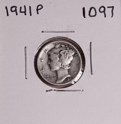 1941 P MERCURY DIME #1097