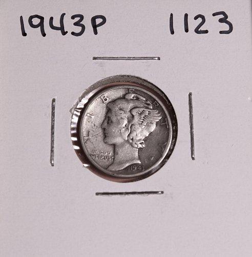 1943 P MERCURY DIME #1123