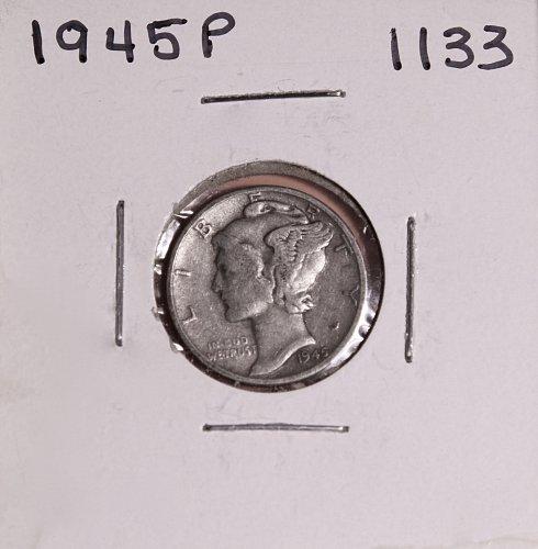 1945 P MERCURY DIME #1133