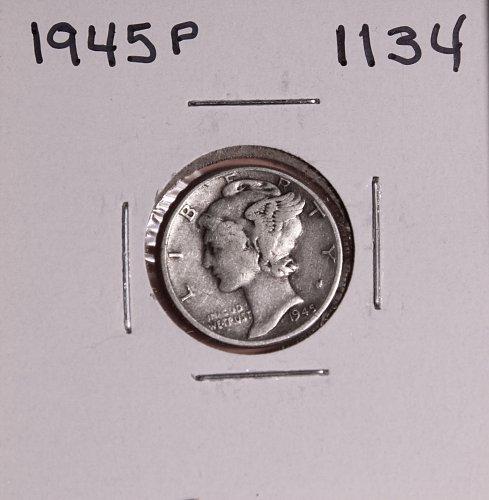 1945 P MERCURY DIME #1134