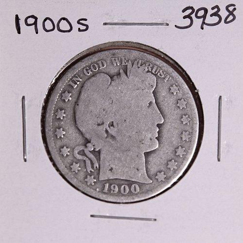 1900 S BARBER HALF DOLLAR #3938