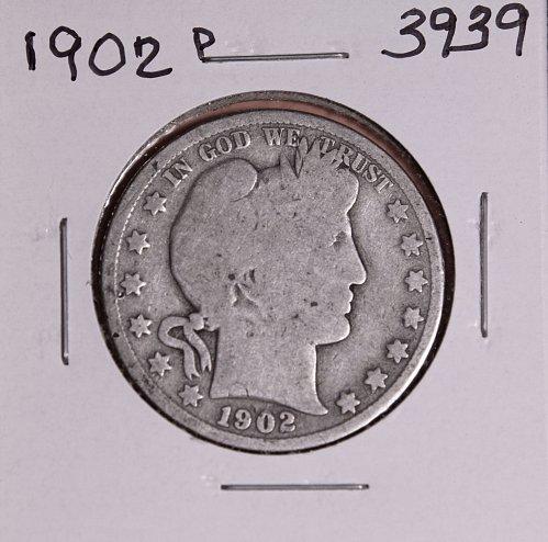 1902 P BARBER HALF DOLLAR #3939