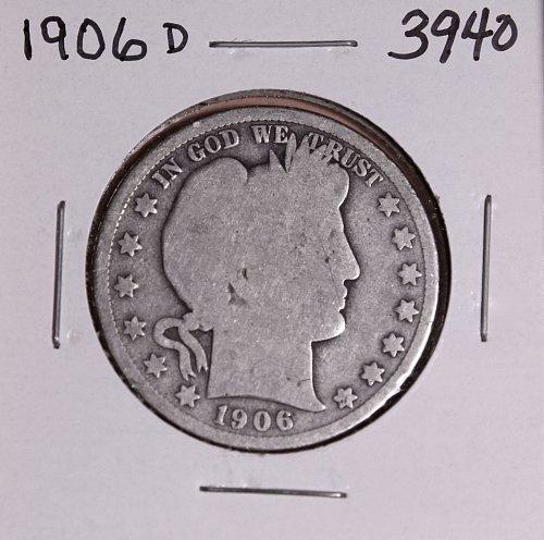 1906 D BARBER HALF DOLLAR #3940