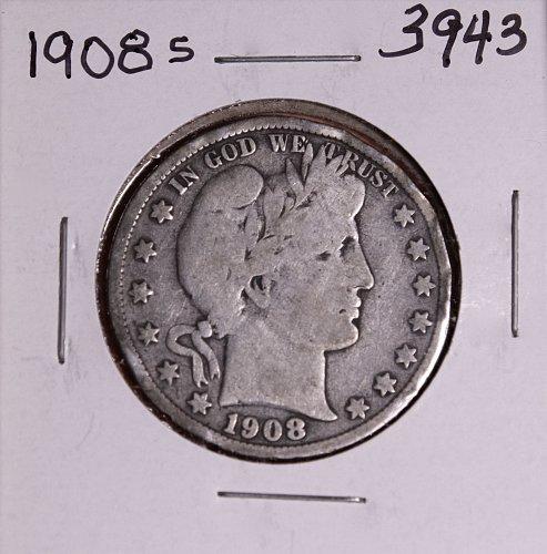 1908 S BARBER HALF DOLLAR #3943