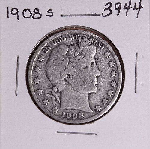 1908 S BARBER HALF DOLLAR #3944