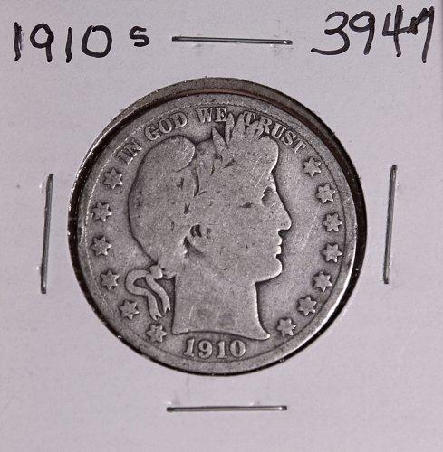 1910 S BARBER HALF DOLLAR #3947