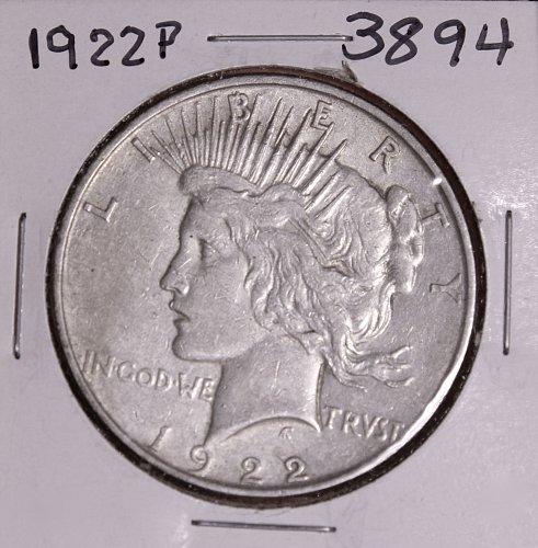 1922 P PEACE SILVER DOLLAR #3894