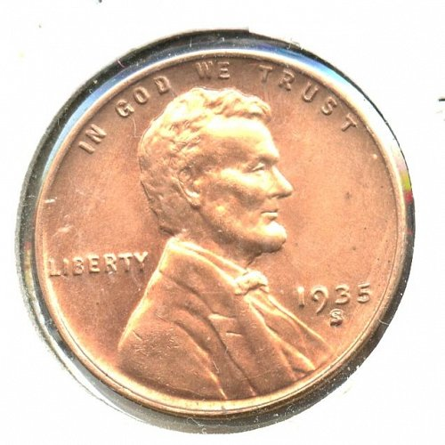 1935 S Lincoln cent BU Bronze