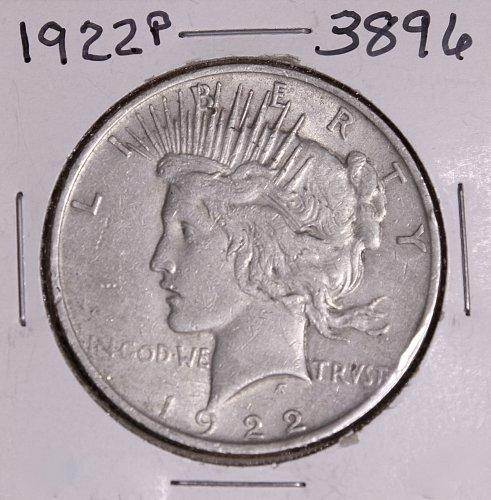 1922 P PEACE SILVER DOLLAR #3896
