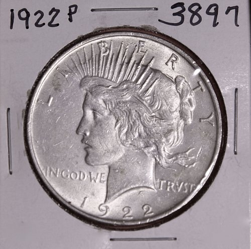 1922 P PEACE SILVER DOLLAR #3897