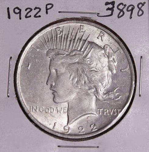 1922 P PEACE SILVER DOLLAR #3898