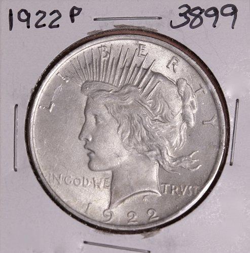1922 P PEACE SILVER DOLLAR #3899