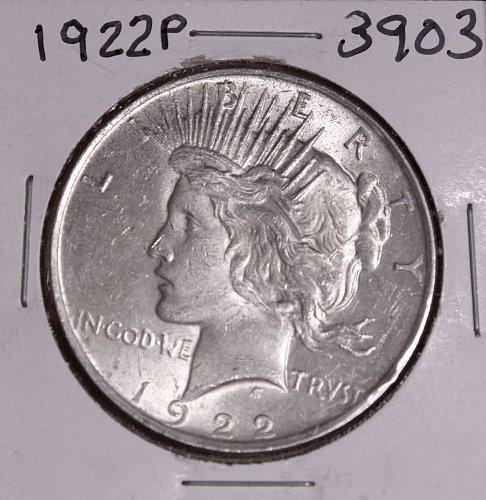 1922 P PEACE SILVER DOLLAR #3903