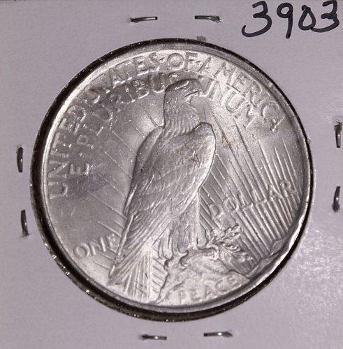 1922 P PEACE SILVER DOLLAR BU #3903