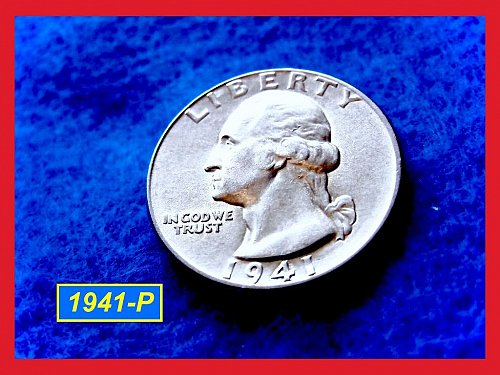 "1941-P  ""XF-45"" Washington Quarter ••• (#2377)"