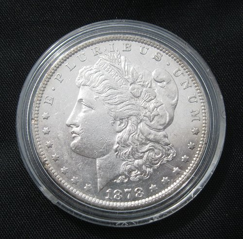 1878 7TF / REVERSE OF 79 MORGAN SILVER DOLLAR