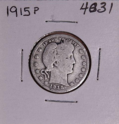 1915 P BARBER QUARTER  #4031