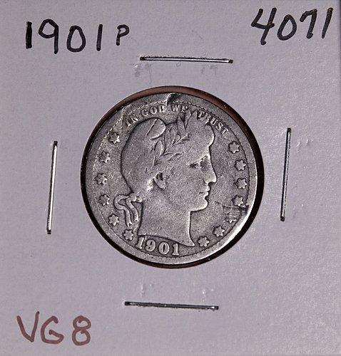 1901 P BARBER QUARTER  #4071