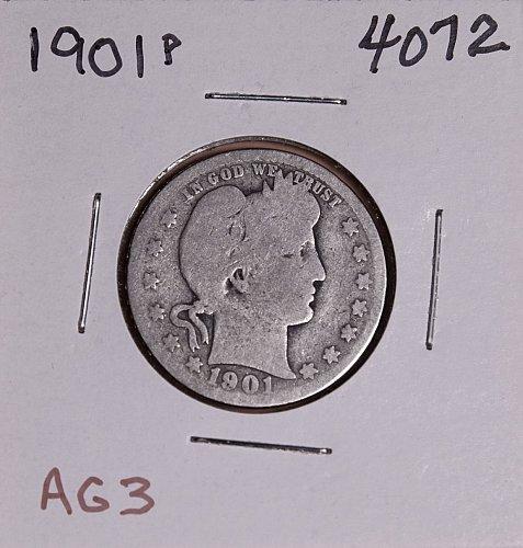 1901 P BARBER QUARTER  #4072