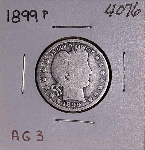 1899 P BARBER QUARTER  #4076