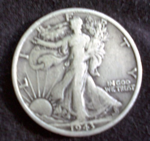 1943 S Walking Liberty Half Dollar Fine