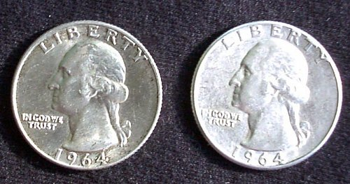 1964 P &D Washington Quarter Pair AU 58+