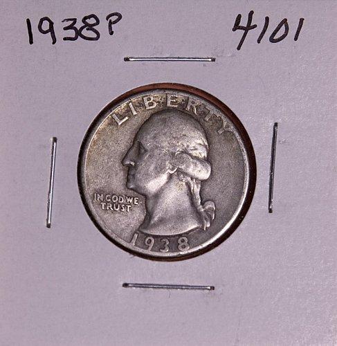1938 P WASHINGTON QUARTER #4101