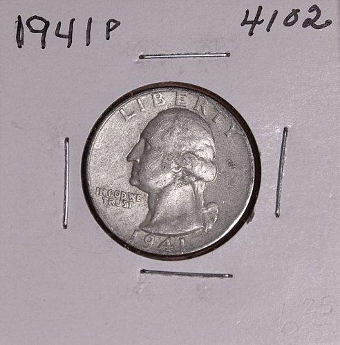 1941 P WASHINGTON QUARTER #4102