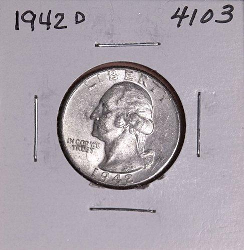 1942 D WASHINGTON QUARTER #4103