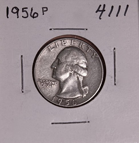 1956 P WASHINGTON QUARTER #4111