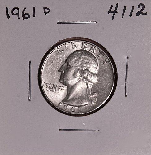 1961 D WASHINGTON QUARTER #4112