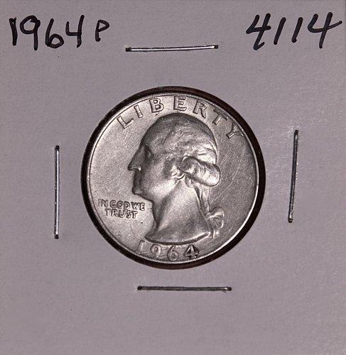 1964 P WASHINGTON QUARTER #4114