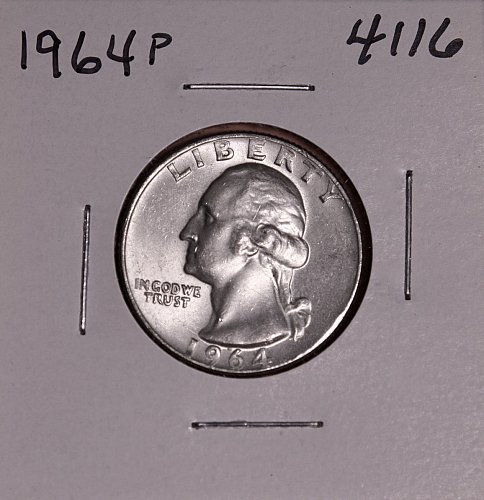 1964 P WASHINGTON QUARTER #4116