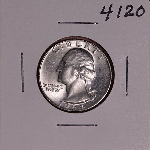 1964 D WASHINGTON QUARTER #4120
