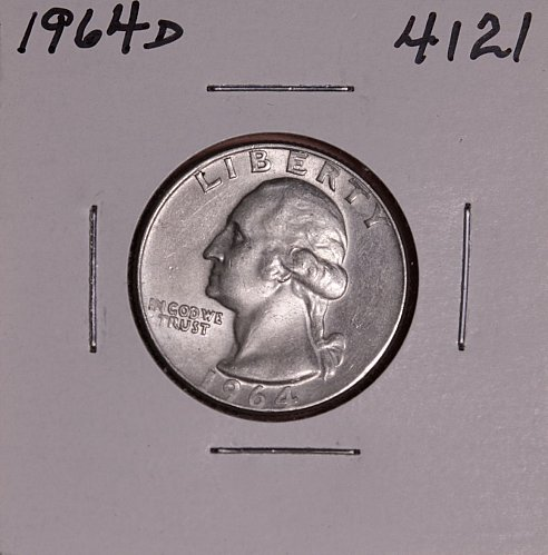 1964 D WASHINGTON QUARTER #4121