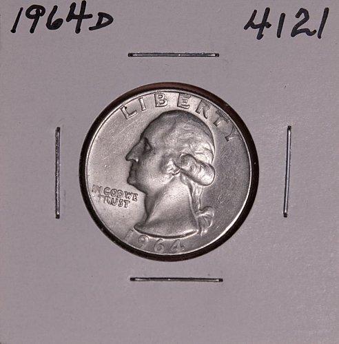 1964 D WASHINGTON QUARTER #4121