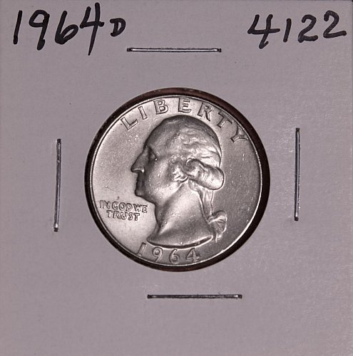 1964 D WASHINGTON QUARTER #4122