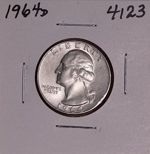 1964 D WASHINGTON QUARTER #4123